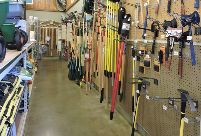Inside the Clallam Co-Op aisles hardware